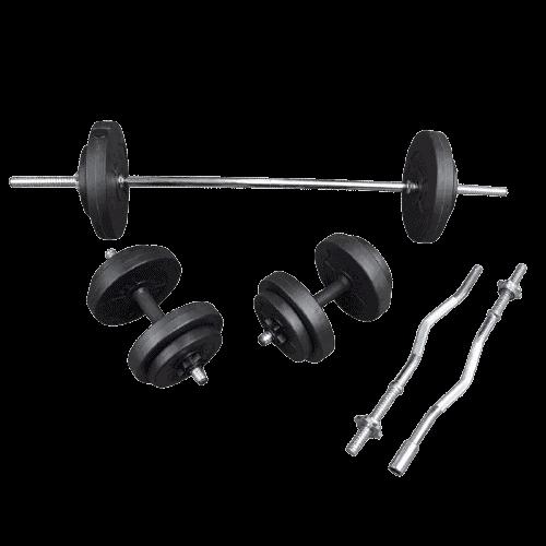 set gantere si haltere - Echipament pentru Sală de fitness Acasă