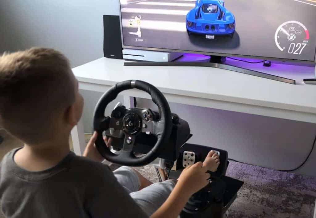 jocuri volan cu pedale 1024x709 - Volan cu Pedale și Schimbător   Recomandări 2021