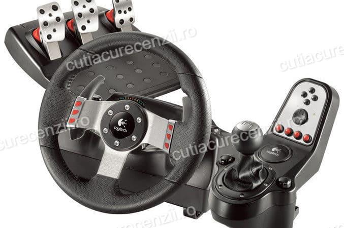 volan cu pedale și schimbător pentru pc